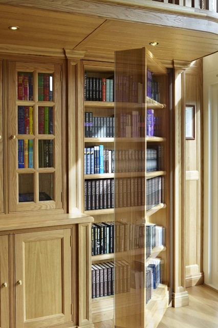 secret door oak library for dick francis traditional home office atherton library traditional home office
