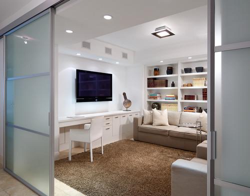 Modern Home Office Design By Miami Design Build Jonathon B. Myers, Inc.