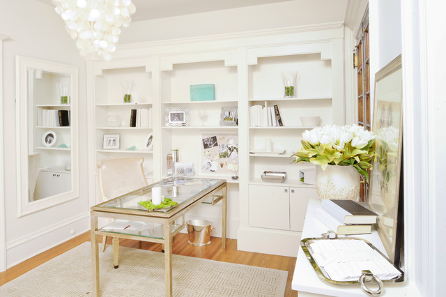 Serene & Sophisticated Library - Chadds Ford, PA traditional-home-office