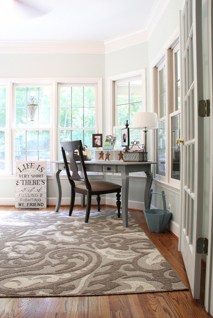 Serene sunroom eclectic home office birmingham by for Sunroom office design