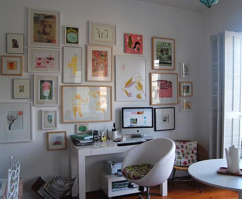 eclectic home office sfgirlbybay
