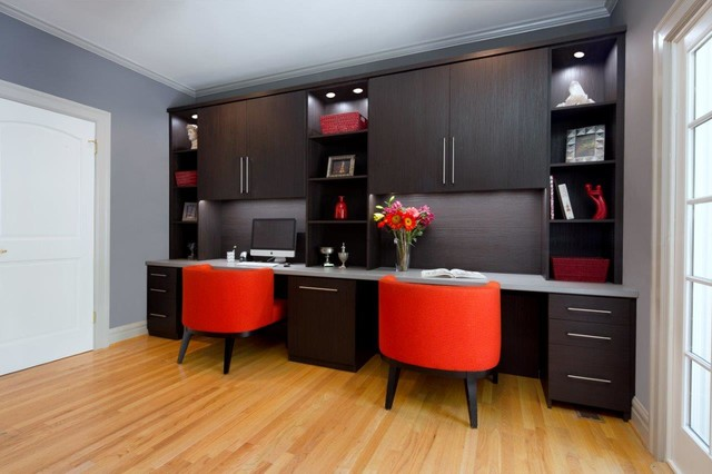 shadow oak home office contemporary home office san francisco by valet custom cabinets. Black Bedroom Furniture Sets. Home Design Ideas