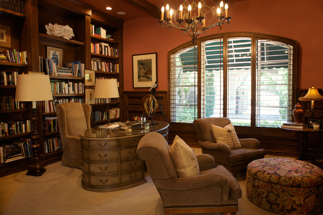 Shady Canyon in Irvine, California mediterranean-home-office