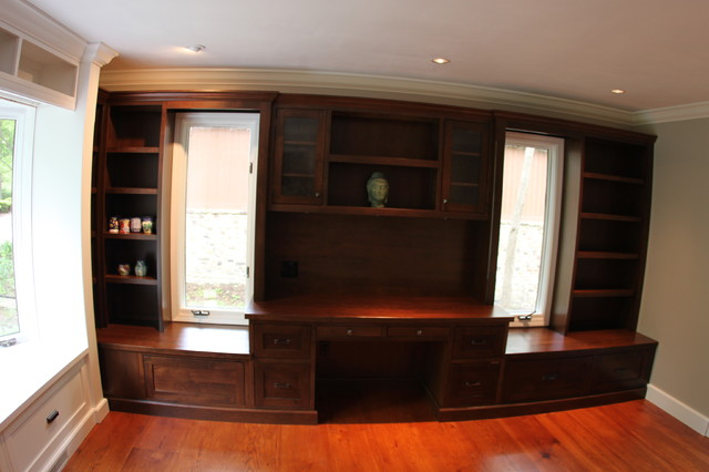 Shaker alder library traditional-home-office