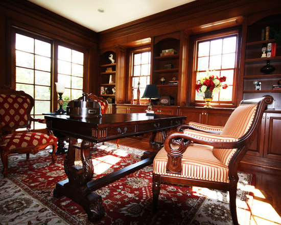 Home office and library design ideas renovations photos Traditional home library design ideas