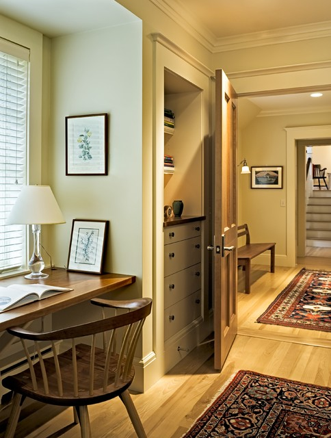 Shingle style home in Hanover NH traditional-home-office