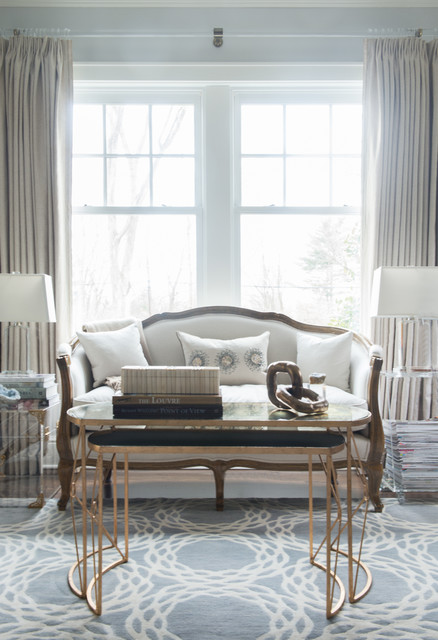 Shingle Style New Construction Transitional Home Office Library New York By Dalia
