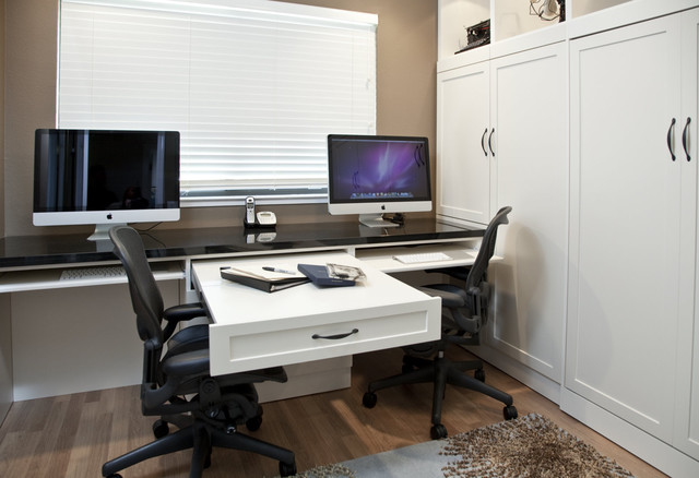 Attractive Side Tilt Wall Bed U0026 Custom Cabinetry In Home Office Traditional Home Office