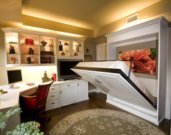Siena Collection Home Office With Wall Bed by Valet Custom Cabinets & Closets traditional-home-office