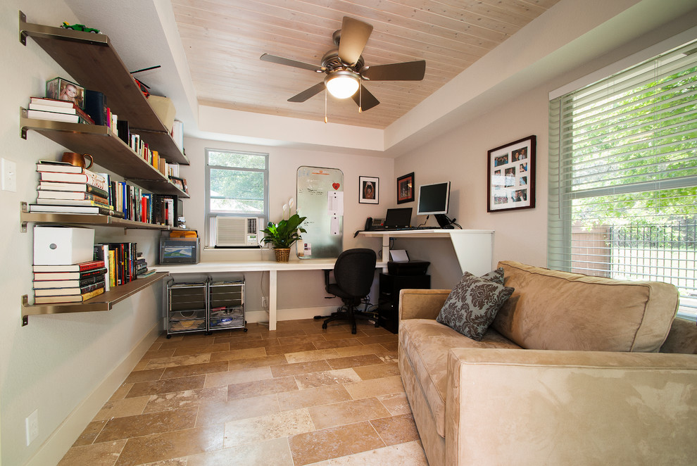 Inspiration for a timeless home office remodel in Austin