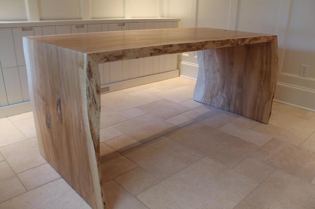 Slab desk - Contemporary - Home Office - charleston - by Hostetler Custom Cabinetry