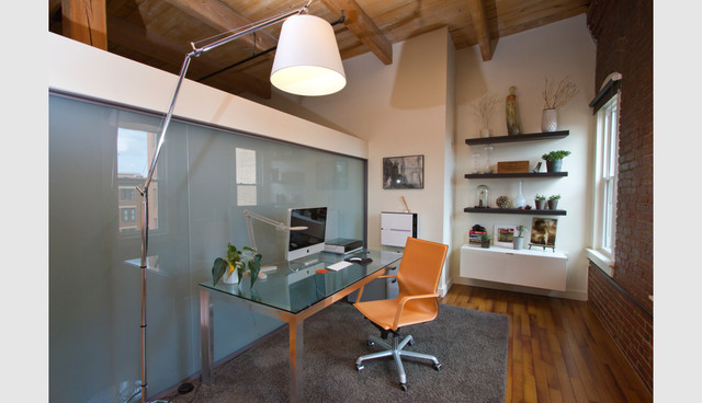 Sleeper Street Loft industrial-home-office