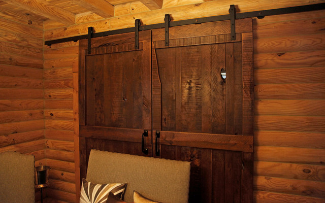 Sliding barn doors rustic home office atlanta by for Barn doors for home office