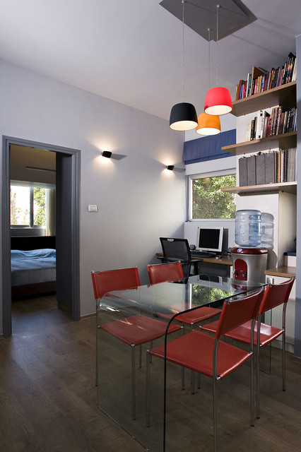 Small bachelor apartment contemporary home office for Houzz small apartments