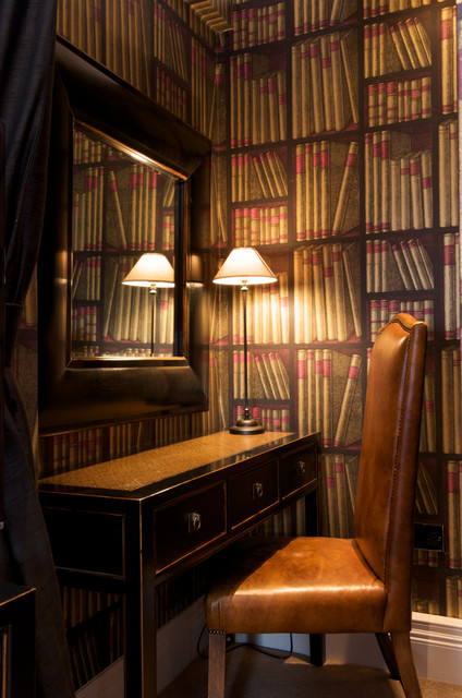 Small Bedroom Study Eclectic Home Office Library