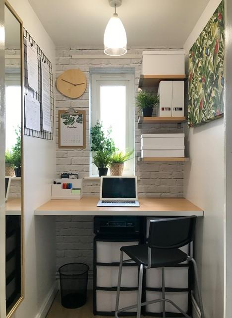 Small Home Office コンテンポラリー-ホームオフィス書斎
