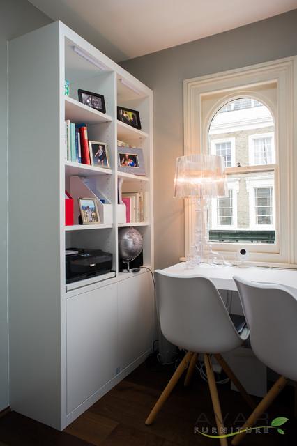 Small office コンテンポラリー-書斎ホームオフィス