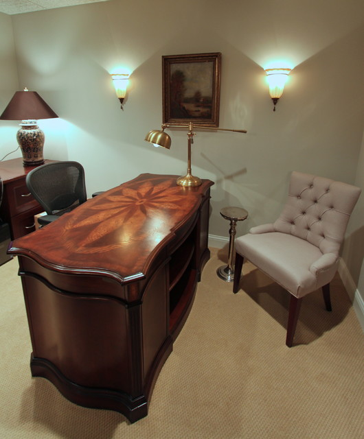 Small traditional law office lake forest traditional for Law office decor