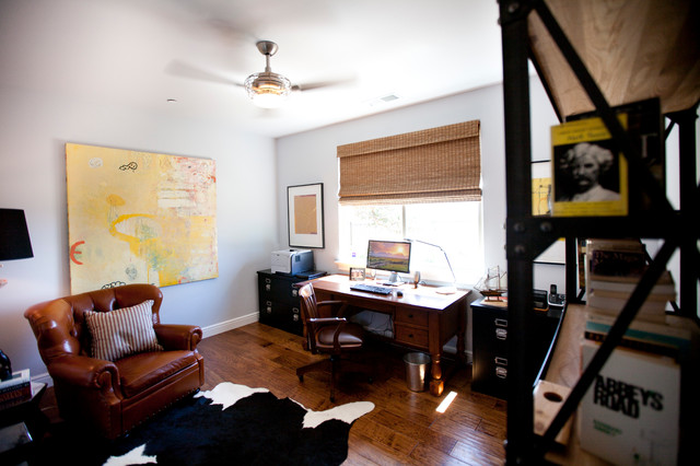 Soft Gray Getaway contemporary-home-office