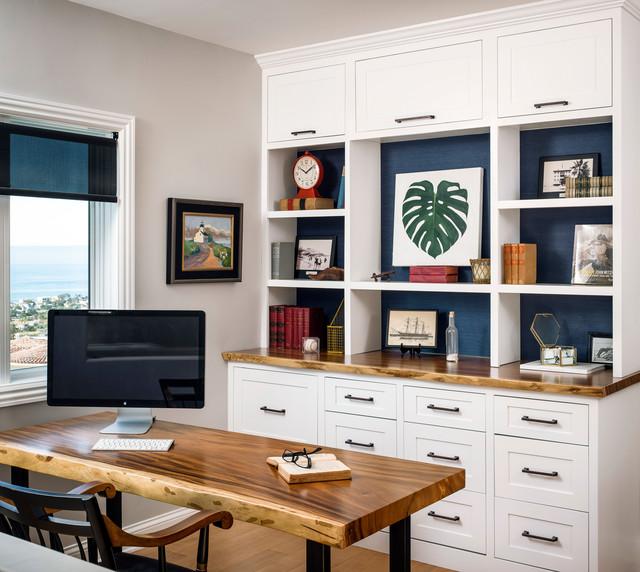 Solana Beach Coastal Home Office And Library