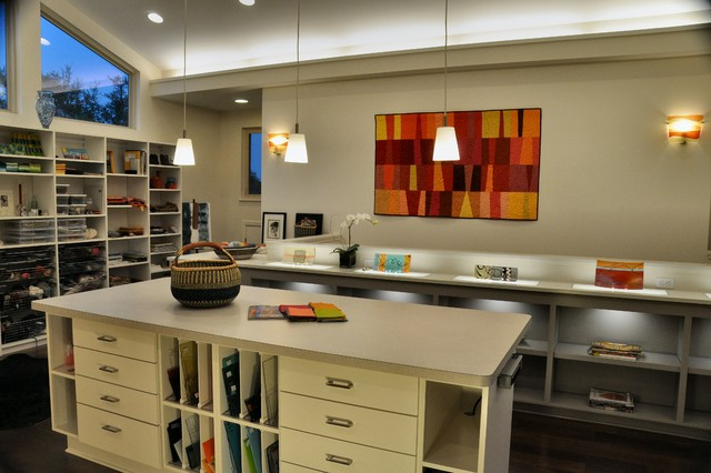 Sona 39 S Art Studio Contemporary Home Office Austin By Paul Degroot