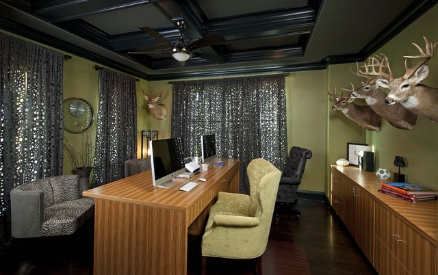 Sophisticated Home Office eclectic-home-office