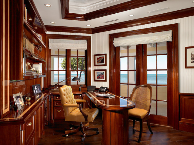 Sophisticated Key West Style Traditional Home Office
