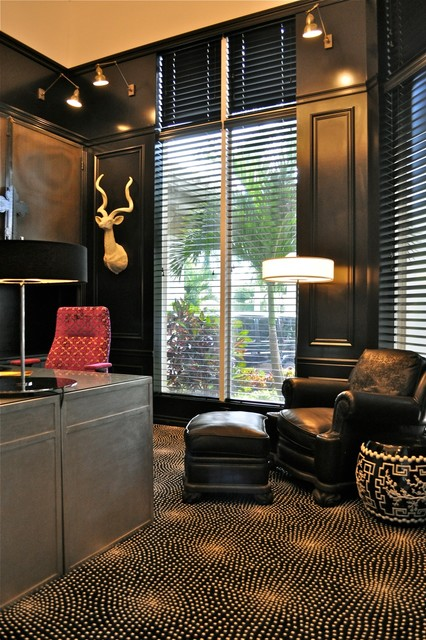 South Florida Family Estate modern-home-office