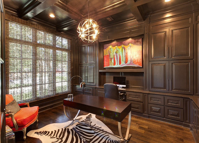 Southlake Transitional traditional-home-office