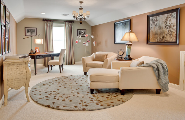 Spa like master bedroom transitional home office for Spa like bedroom designs