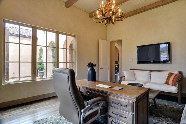 Spanish Colonial modern-home-office