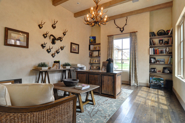 Spanish Colonial Rustic Home Office Dallas By