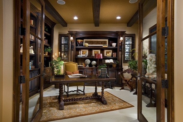 Spanish Eclectic Warmth Mediterranean Home Office