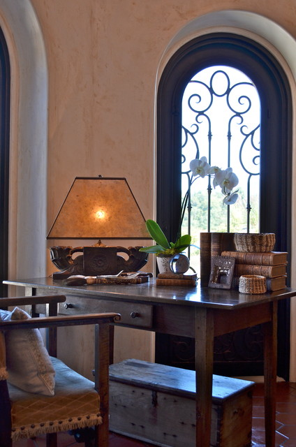 spanish style home traditional home office san. Black Bedroom Furniture Sets. Home Design Ideas