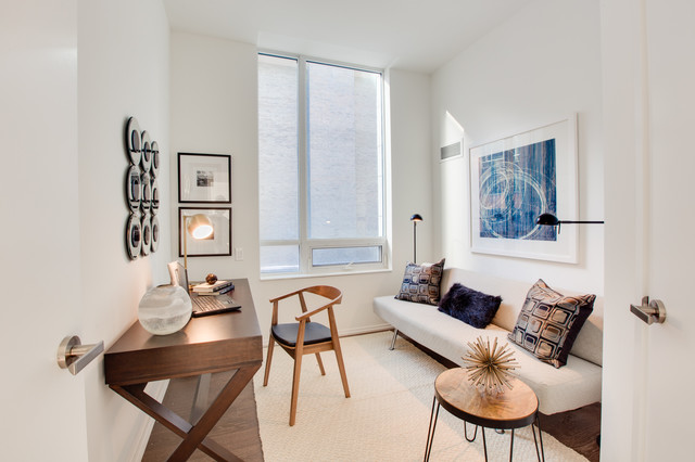 Staging Project Chaz Yorkville Condo Den/Bedroom   Contemporary   Home  Office   Toronto   By Toronto Condo Staging And Design Inc.
