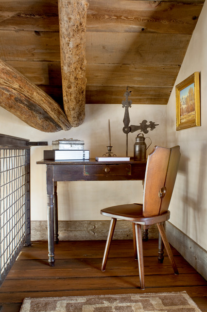 Stair Landing Nook Rustic Home Office Other Metro By Peace Design