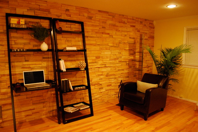 Home office accent wall traditional home office dc for Home office accent wall