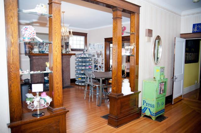 Studio and Foyer farmhouse-home-office