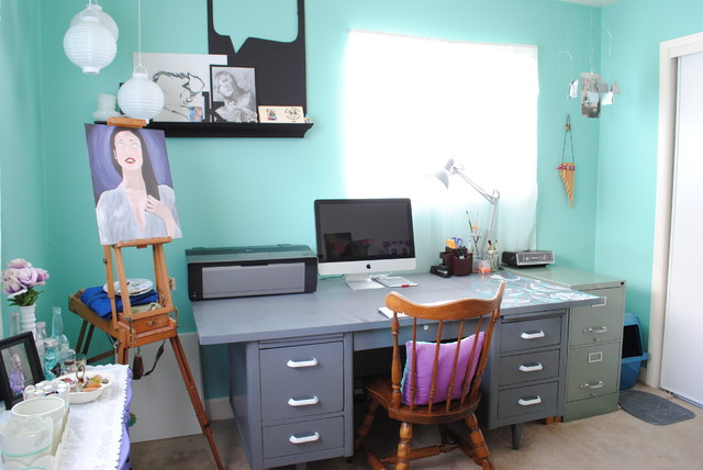 Studio Space eclectic-home-office