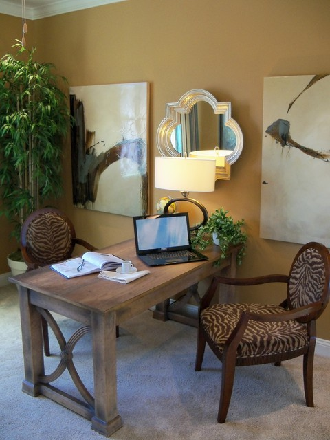 Study and Home Office transitional-home-office