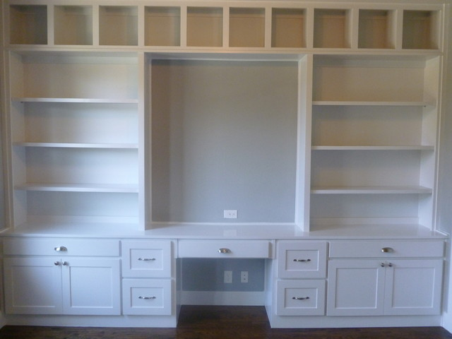 Study built ins coronado home office dallas by jld Study room wall cabinets