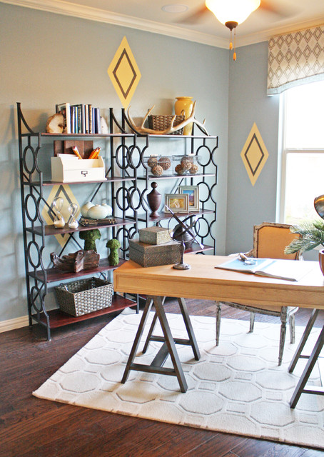 Study eclectic home office