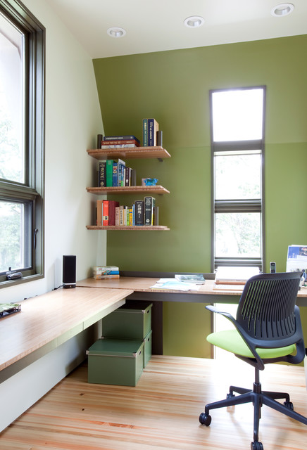 Study interiors modern-home-office