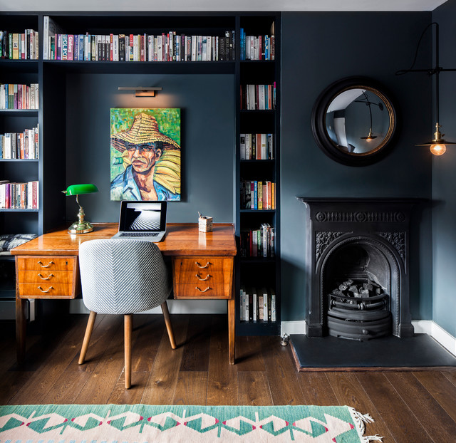 Study - Midcentury - Home Office - London - by LAURA LAKIN DESIGN
