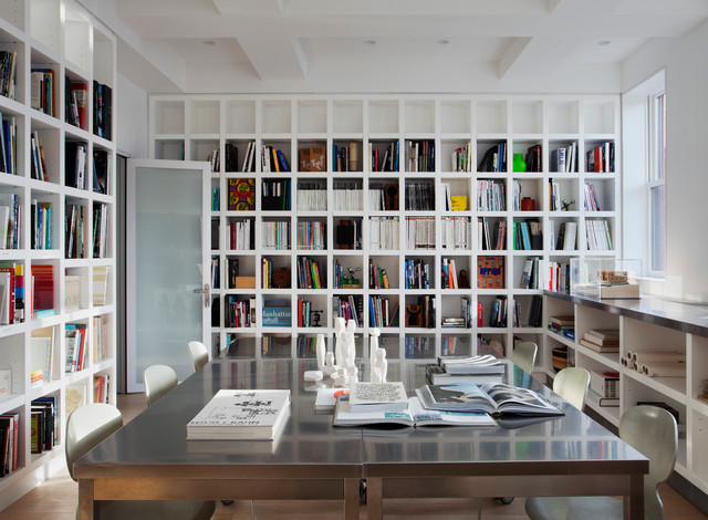 Study modern home office new york by space kit for Office design houzz
