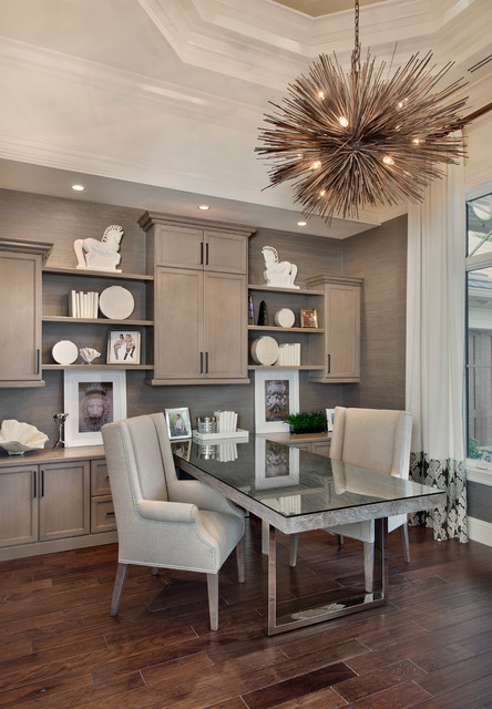 Study traditional home office miami by weber for Office design group inc