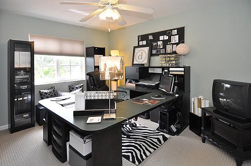 stylish florida townhome contemporary home office