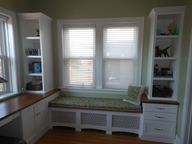 Sunroom makeover traditional home office chicago for Sunroom office design