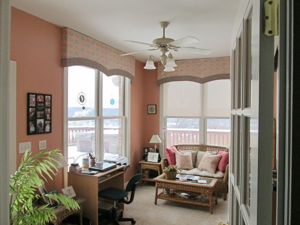Transitional home office photo in Cincinnati