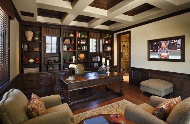 Superstition mt residence traditional home office Traditional home interior design